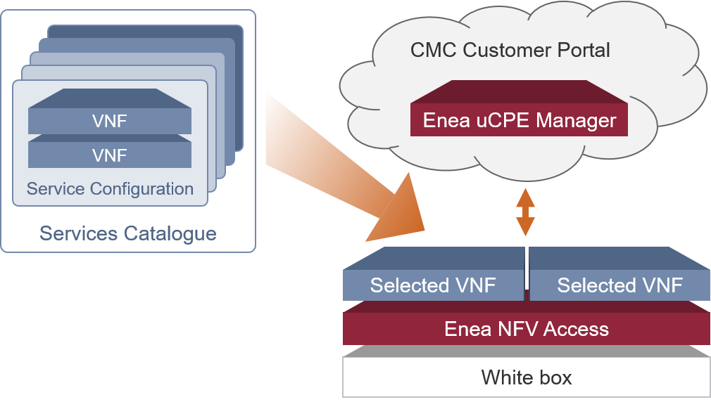 Customized SD-WAN services catalogue enabled by Enea NFV Access and uCPE